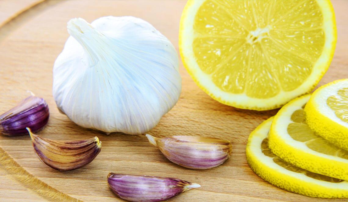 Flu remedies using lemon and garlic